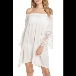 NWT Chelsea28 White/Cream Off The Shoulder Dress